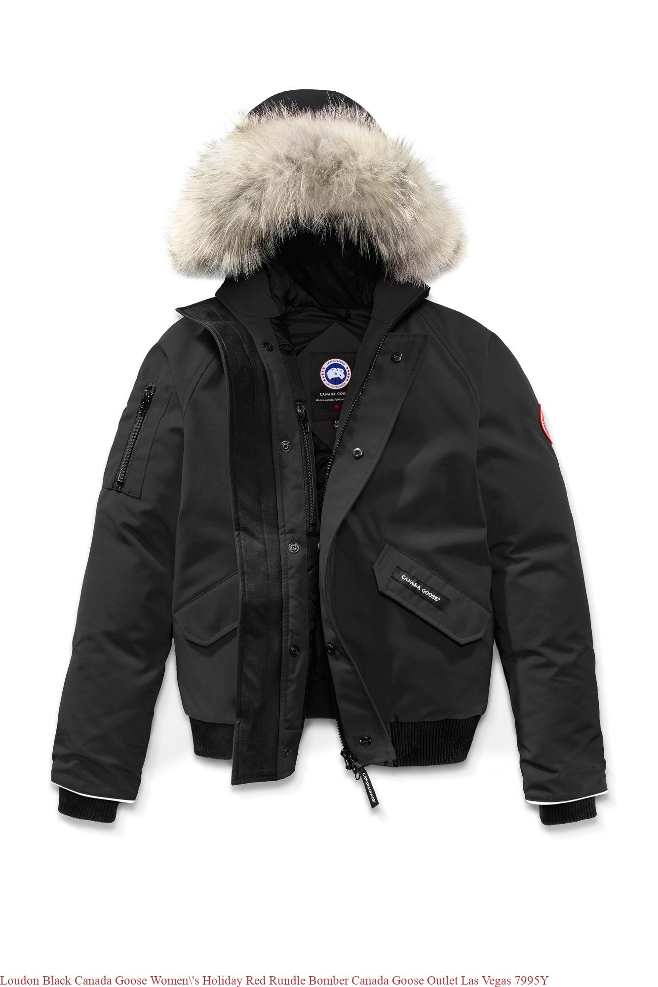 Loudon Black Canada Goose Women  s Holiday Red Rundle Bomber Canada ... 4112ab722