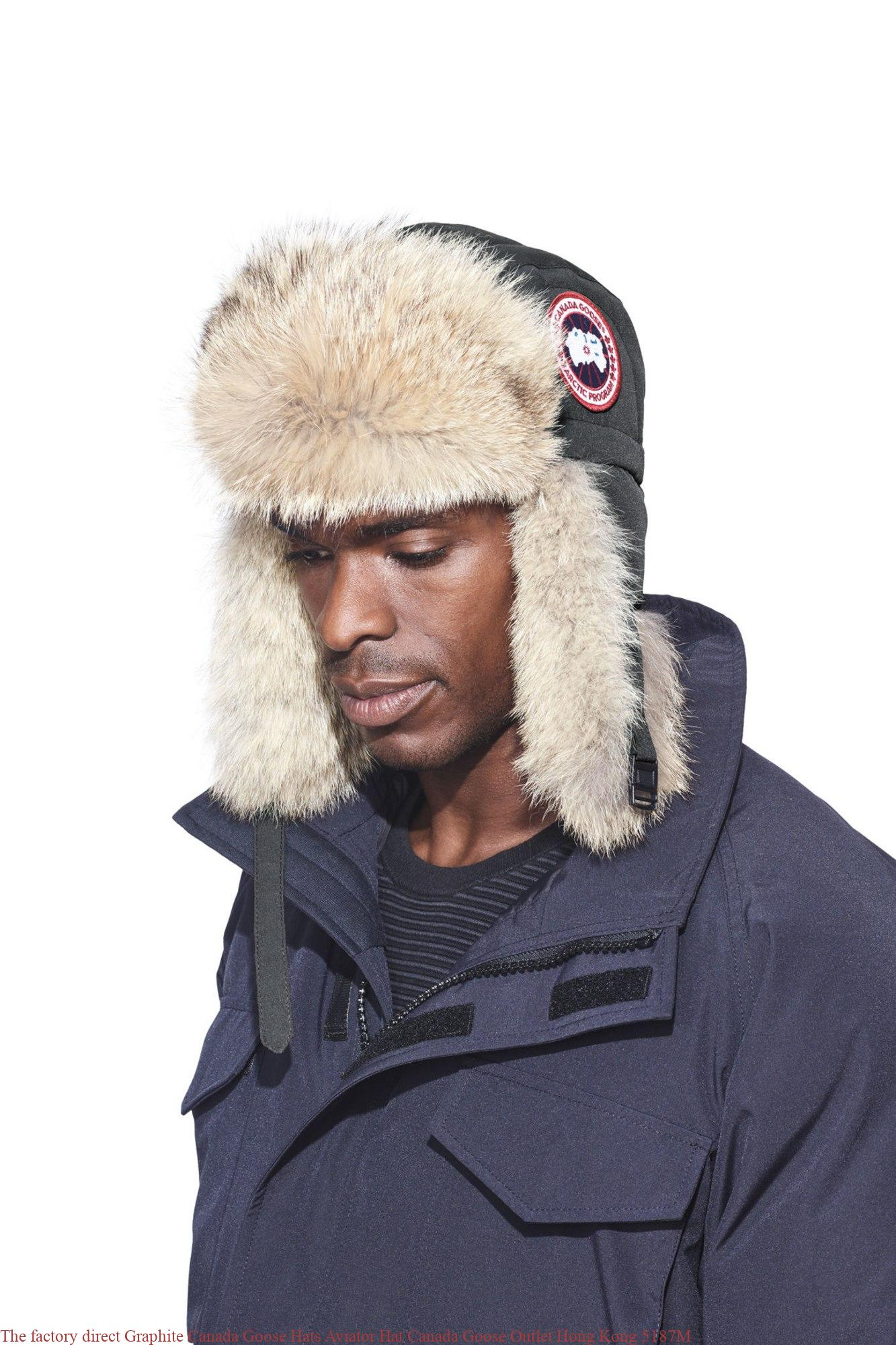 1a7fdbe3cbff The factory direct Graphite Canada Goose Hats Aviator Hat Canada Goose  Outlet Hong Kong 5187M