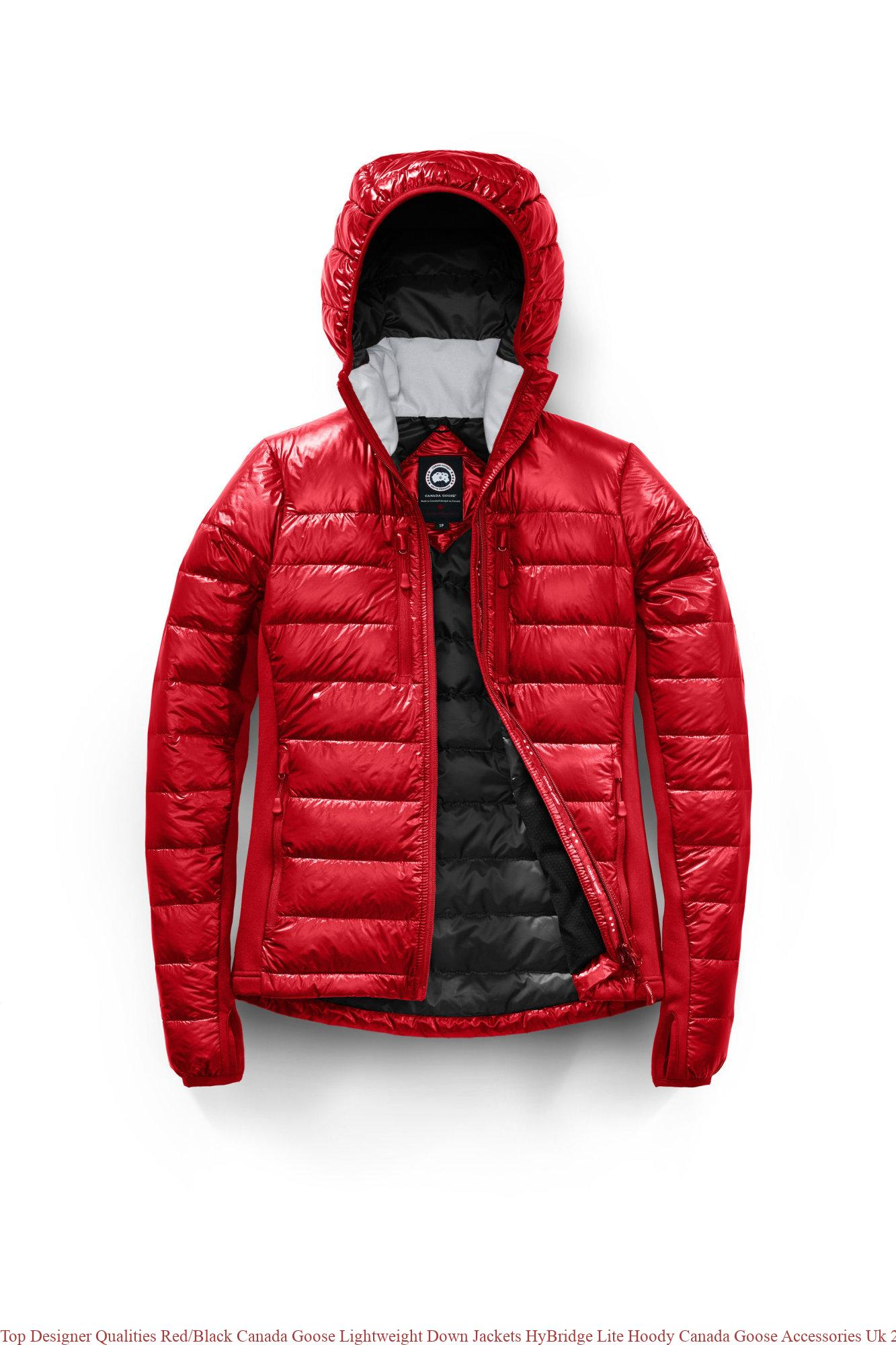 bd6020acd0a Top Designer Qualities Red/Black Canada Goose Lightweight Down Jackets  HyBridge Lite Hoody Canada Goose Accessories Uk 2703L