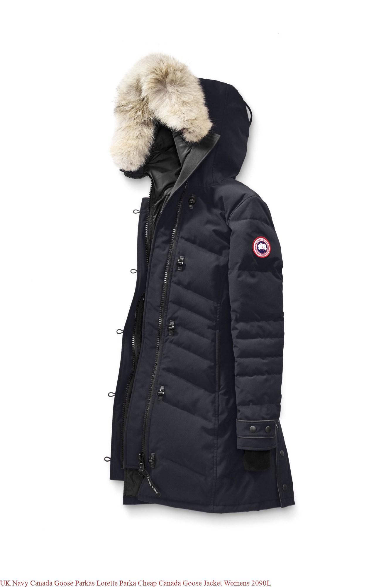 UK Navy Canada Goose Parkas Lorette Parka Cheap Canada Goose Jacket Womens 2090L