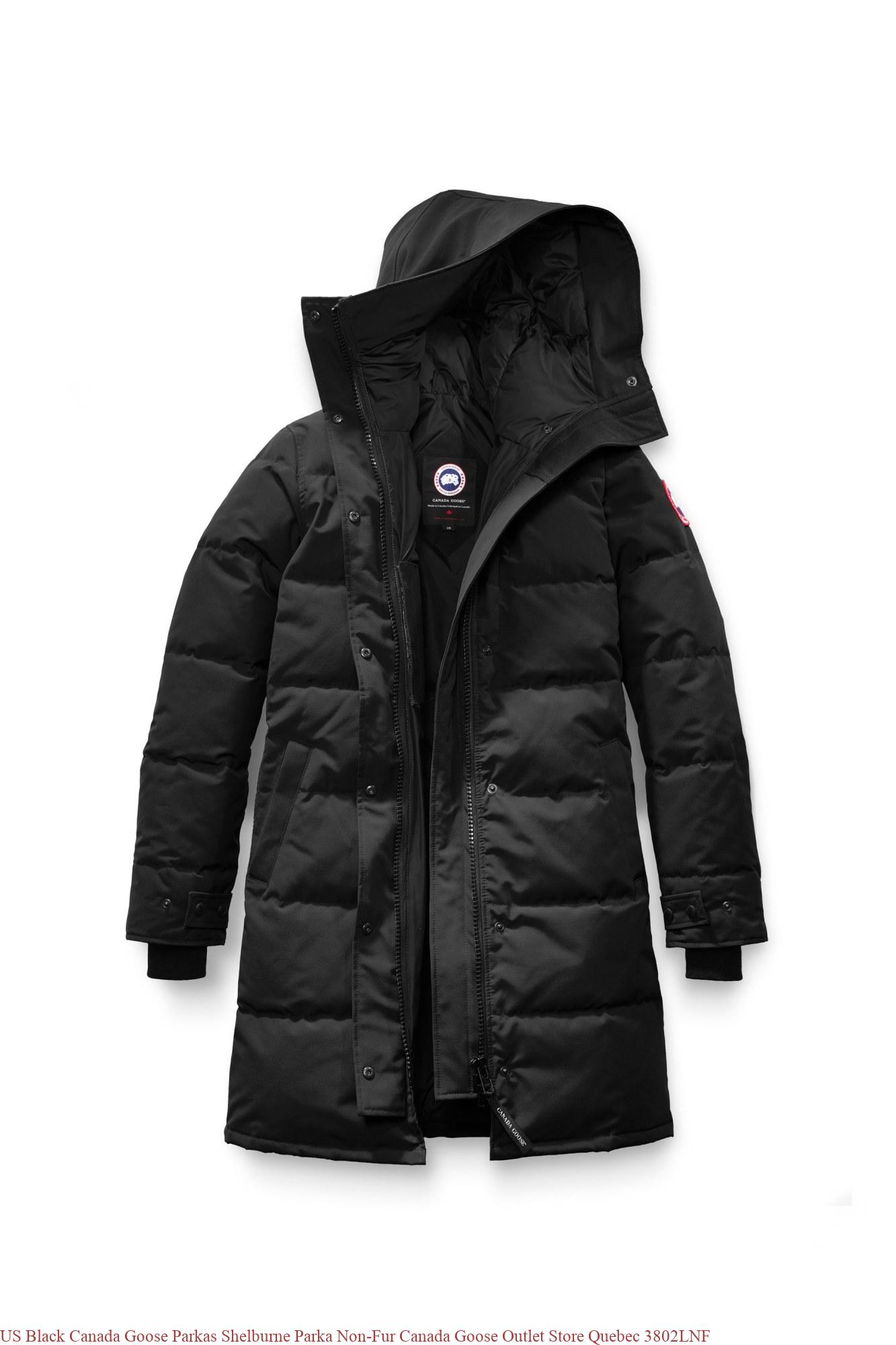 US Black Canada Goose Parkas Shelburne Parka Non-Fur Canada Goose Outlet  Store Quebec 3802LNF 31bd203b3